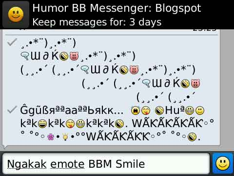 Ngakak emote BBM smile :: Download Gratis Symbol AutoText BlackBerry