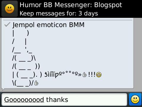 jempol emoticon bbm gambar emoticon untuk blackberry messenger
