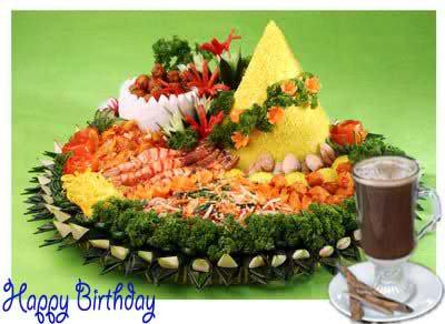 Gambar Selamat Tumpeng Ulang Tahun Happy B Day For Bbm