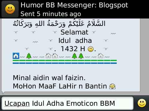 ucapan gambar Idul Adha lucu lucu dari blackberry Messenger…