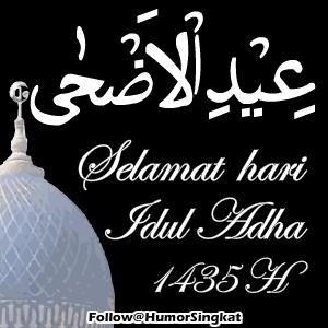 IDUL ADHA kaligrafi 1435 H Putih