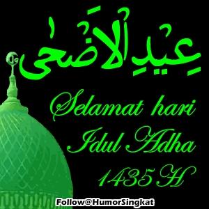 IDUL ADHA kaligrafi 1435 Hijau