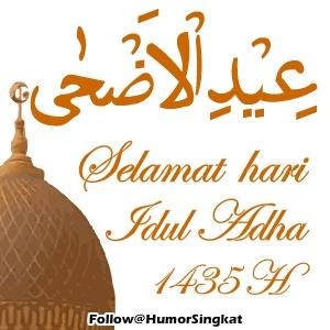 IDUL ADHA kaligrafi 1435 Pu orange